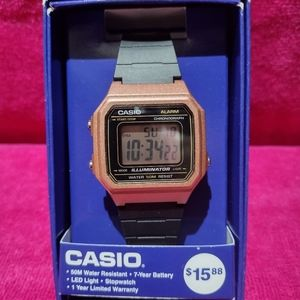 ✨New✨CASIO Lady Wrist Watch. Black/Rose gold color